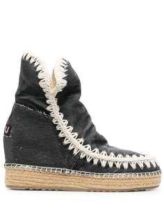 Mou джинсовые ботинки на танкетке