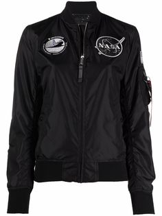 Alpha Industries куртка с нашивками NASA