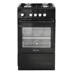Газовая плита DE LUXE 5040.48г (щ)-011, газовая духовка, без крышки, черный