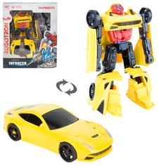 Трансформер Robotron Робот-машина желтая 12 см