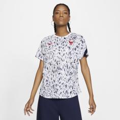 Женская игровая футболка с коротким рукавом FFF - Белый Nike
