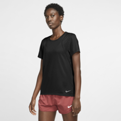 Женская беговая футболка с коротким рукавом Nike Run - Черный