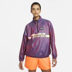 Женская куртка из тканого материала с принтом Nike Sportswear - Пурпурный