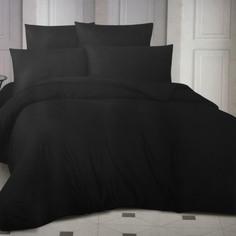 Комплект постельного белья La Besse Ранфорс чёрный Евро