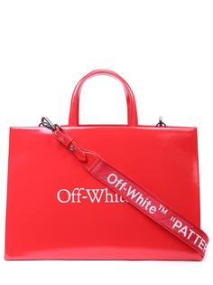 Сумка кожаная Box Bag Off White