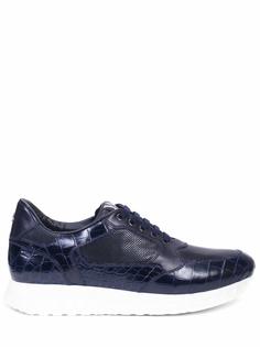 Кроссовки из кожи крокодила Artioli