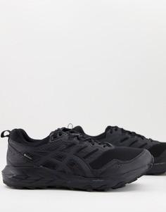 Черные кроссовки для бега по пересеченной местности Asics Trail Gel Sonoma 6 Goretex-Черный цвет