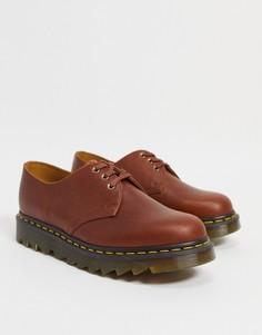 Светло-коричневые ботинки Dr Martens 1461-Коричневый цвет
