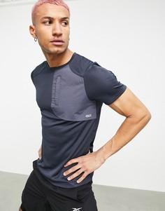 Спортивная футболка с карманом в утилитарном стиле ASOS 4505-Голубой