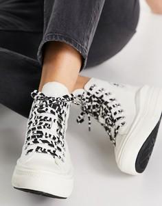 Белые кеды с отделкой под зебру Converse Chuck Taylor Move-Черный цвет