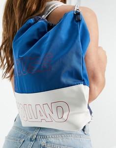 Универсальный рюкзак-тоут с комбинированной расцветкой синего и белого цвета House of Holland-Многоцветный