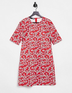 Платье-футболка с принтом Love Moschino-Многоцветный