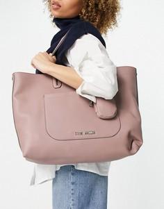 Розовато-лиловая сумка-тоут с кошельком для монет Steve Madden Curtis-Фиолетовый цвет