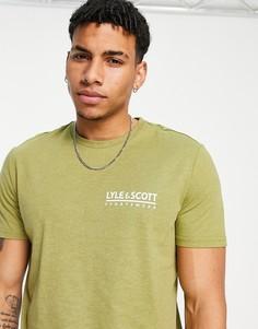 Зеленая футболка с маленьким логотипом Lyle & Scott Sport Pendle-Зеленый