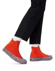 Трикотажные кроссовки ярко-макового цвета Converse Chuck 70 Hi Renew-Оранжевый цвет