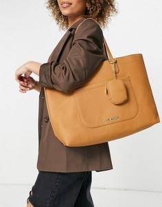 Светло-коричневая сумка-тоут с кошельком для мелочи Steve Madden Curtis-Коричневый цвет