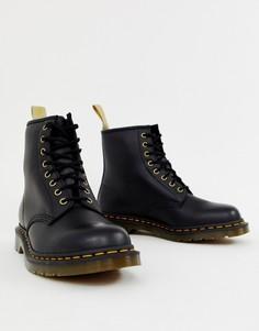 Черные ботинки из искусственной кожи с 8 парами люверсов Dr Martens 1460-Черный