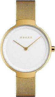 fashion наручные женские часы Obaku V231LXGIMG. Коллекция Mesh