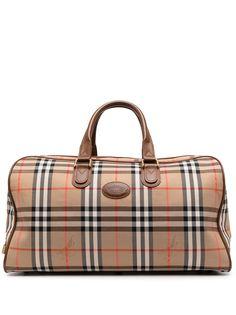 Burberry Pre-Owned сумка Boston в клетку House Check