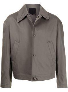 Salvatore Ferragamo куртка-рубашка с косым воротником