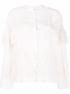 Patrizia Pepe блузка с английской вышивкой