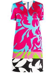 Escada платье-трапеция с цветочным принтом