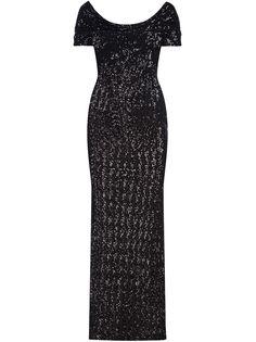 Dolce & Gabbana платье с вырезом-лодочкой и пайетками