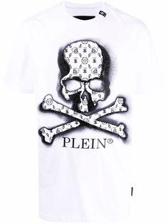 Philipp Plein футболка с логотипом и принтом Skull