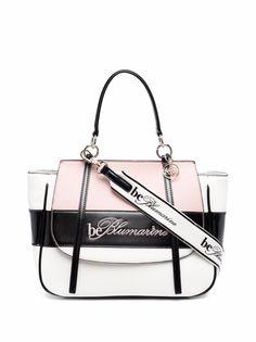 be blumarine сумка-тоут в стиле колор-блок с логотипом