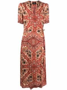 ETRO платье миди с принтом пейсли