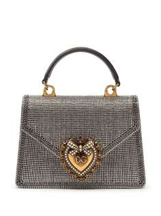 Dolce & Gabbana маленькая сумка Devotion со стразами