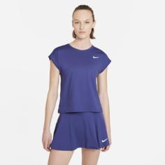 Женская теннисная футболка с коротким рукавом NikeCourt Dri-FIT Victory - Пурпурный