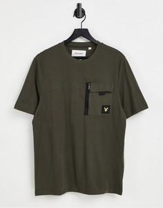 Футболка с карманом на груди Lyle & Scott-Зеленый цвет