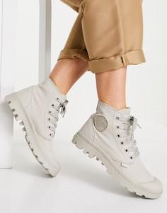 Светло-бежевые ботинки на шнуровке Palladium Pampa-Светло-бежевый