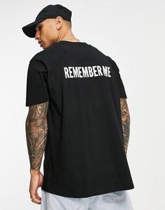 """Черная футболка с надписью """"Remember Me"""" Night Addict-Черный цвет"""