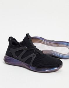 Черные технологичные кроссовки из трикотажа с тесьмой петлями для шнуровки спереди ALDO Love Planet-Черный цвет
