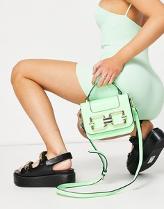 Неоново-зеленая сумка через плечо с золотистой фурнитурой ALDO Lotharewen-Зеленый цвет