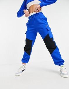 Черно-синие брюки карго Nike Dance-Голубой