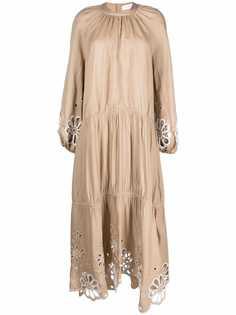 Jonathan Simkhai ярусное платье Anisa с английской вышивкой