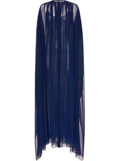 Oscar de la Renta платье из тюля с бахромой