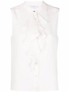 Patrizia Pepe блузка без рукавов с воротником-стойкой