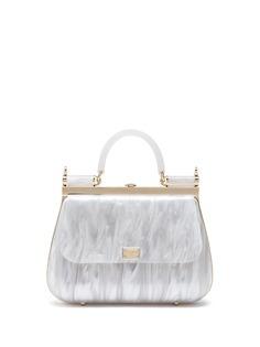 Dolce & Gabbana сумка Sicily Box с перламутровым эффектом