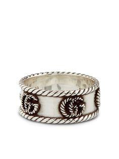 Gucci серебряное кольцо Marmont