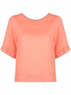 120% Lino футболка с вырезом-лодочкой