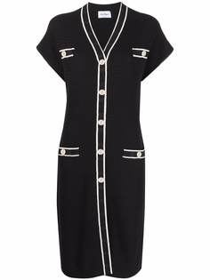 Salvatore Ferragamo платье-кардиган с короткими рукавами