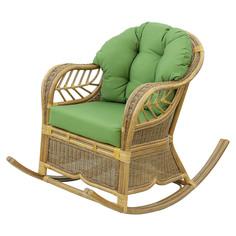 Кресло-качалка Rattan grand brown с подушками