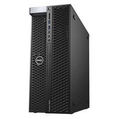Рабочая станция Dell Precision T5820, Intel Core i9 10900X, DDR4 16ГБ, 256ГБ(SSD), DVD-RW, Windows 10 Professional, черный [5820-8017]