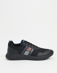 Легкие черные кроссовки с логотипом в виде флага сбоку Tommy Hilfiger-Черный цвет