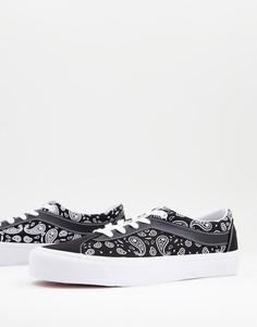 Черно-белые кроссовки с принтом пейсли Vans Bold-Черный цвет