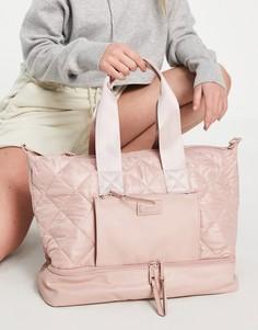Розова стеганая сумка-тоут с несколькими отделениями ALDO Love Planet Pilini-Розовый цвет